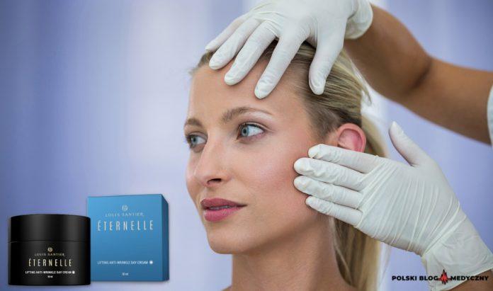 zbliżenie na kobiecą twarz po kuracji eternelle efekty działanie kremu